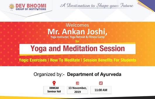 Yoga and Meditation session by Department of Ayurveda